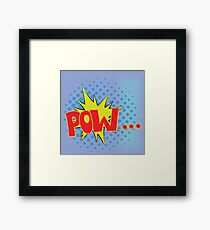 colorful illustration  with  explosion  on blue background Framed Print