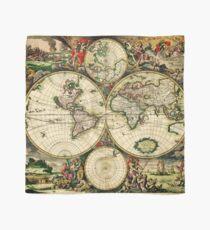 Weltkarte 1689 - Doppelte Hemisphäre Tuch