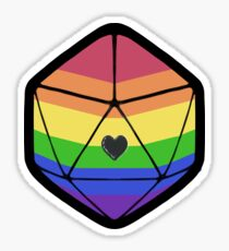 Pride d20 Sticker