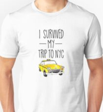 I Survived My Trip To NYC T Shirt New York City Taxi Cab Tee T-Shirt