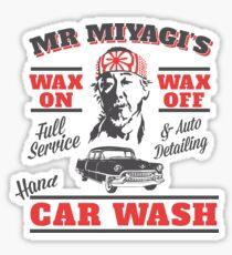 Wax on, Wax off Sticker