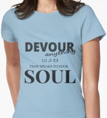 Soul, meditation, learning, positivity Womens Fitted T-Shirt