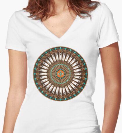 Pow Wow (Wacipi) Women's Fitted V-Neck T-Shirt
