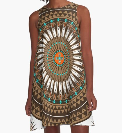 Pow Wow (Wacipi) A-Line Dress