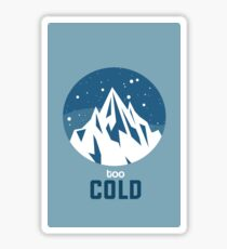 Cold White Mountain with Blue Sky and White Snow Sticker