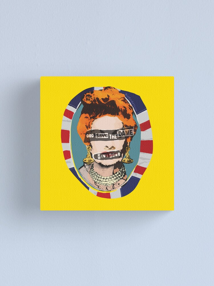 Alternate view of God Save The Dame Canvas Print