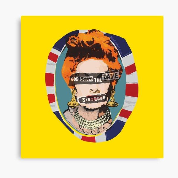 God Save The Dame Canvas Print