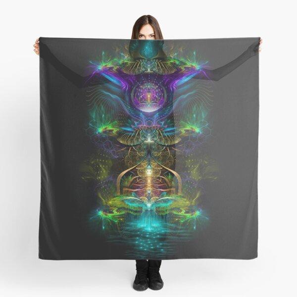Neon1 Visionary fractal art Scarf