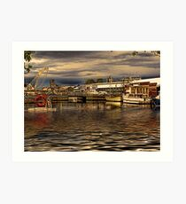 Boats In Hobart HDR Art Print