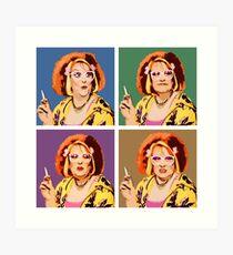 Die Auburn Jerry Hall Pop Art Kunstdruck