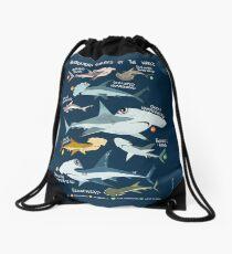 Hammerhead Sharks of the World Drawstring Bag