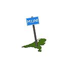 Traffic sign with the Dutch word MIJN! (Mine!) on a map of the Netherlands. by funkyworm
