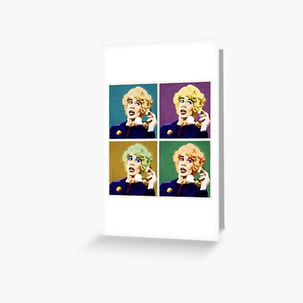 Miss Babs Pop Art Greeting Card
