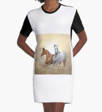 Two purebred horses  Graphic T-Shirt Dress