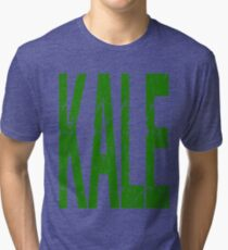 Kale Vegan Vegetarians Health Geek Funny Veggie Powered Fitness Tri-blend T-Shirt