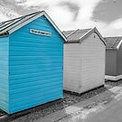 Beach Hut In Blue by Lisa Kent