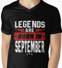 LEGENDS ARE BORN IN SEPTEMBER Men's V-Neck T-Shirt