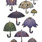 Summertime umbrellas by Julia Nikitina