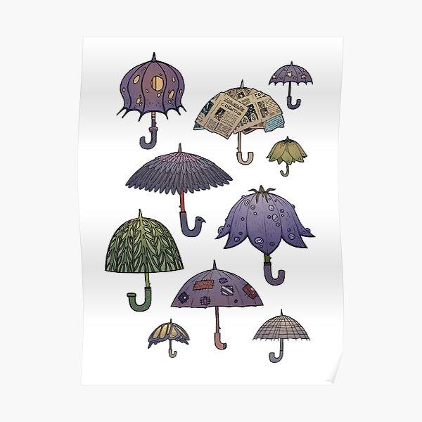 Summertime umbrellas Poster