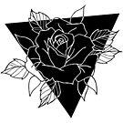 Blackwork Rose by Sean Middleton