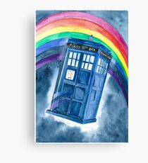 Sci Fi  inspired by The Doctor Canvas Print