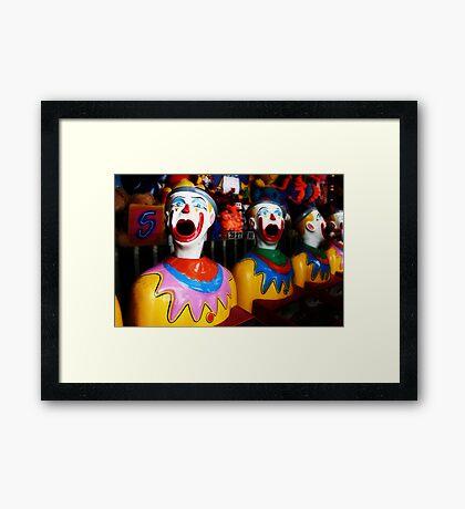 Sideshow Clowns Framed Print