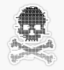Game Over 8bit Glitch Black Sticker