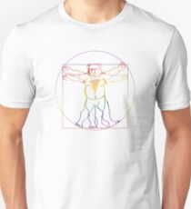 ROBUST BEAR VINCI VITRUVIAN RAINBOW T-Shirt