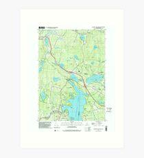 USGS TOPO Map New Hampshire NH Sunapee Lake North 329815 1998 24000 Art Print