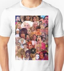 Iconic Drag Queens Collage  T-Shirt