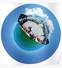 Pier Tiny Planet Poster