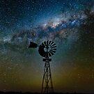 Flinders Windmill and Galaxy by pablosvista2
