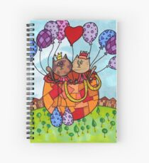 Cat Date Balloon Ride Spiral Notebook