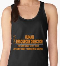 HUMAN RESOURCES DIRECTOR Women's Tank Top