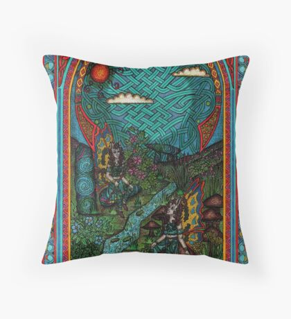 fairy window Throw Pillow