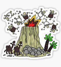 Lanzarote volcano Sticker