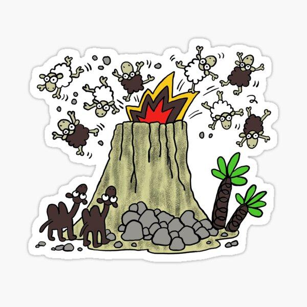 Volcán de Lanzarote Pegatina