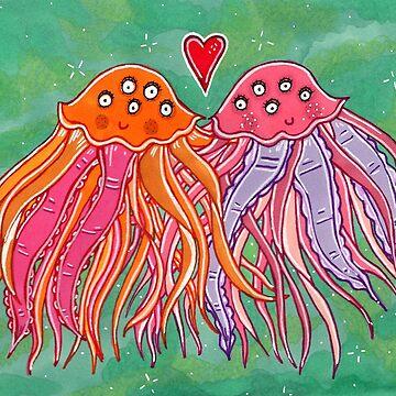 Jellyfishes In Love by katrinahajowyj