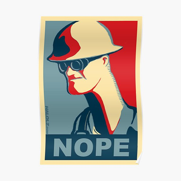 Team Fortress 2 - Engineer Nope Poster