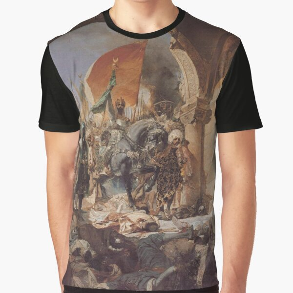 Ottoman Painting: Conquest of Constantinople 1453 Graphic T-Shirt