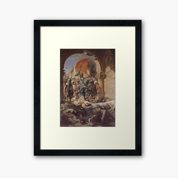 Ottoman Painting: Conquest of Constantinople 1453 Framed Art Print