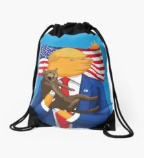 American Catastrophe Drawstring Bag