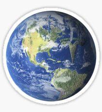 tesla earth Sticker