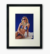 Kat Upton - Celebrity (Oil Paint Art) Framed Print