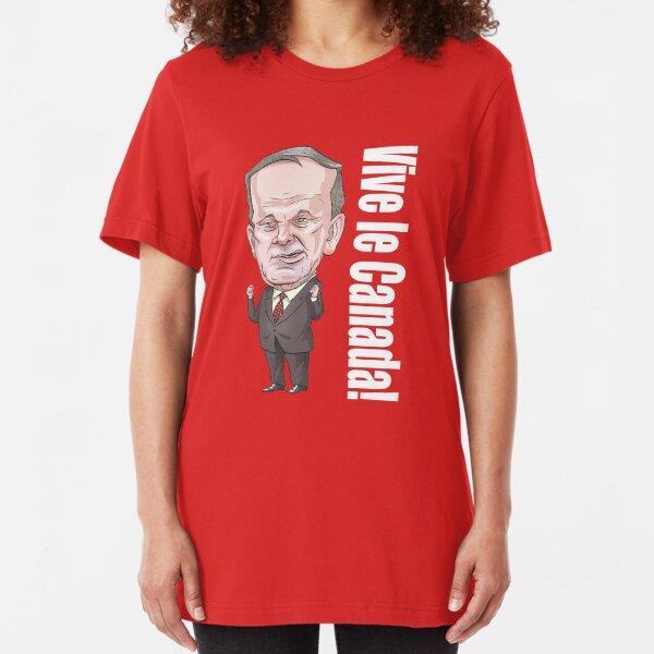 """Jean Chretien """"Vive le Canada!"""" Slim Fit T-Shirt"""