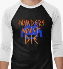 INVADERS MUST DIE III Men's Baseball ¾ T-Shirt