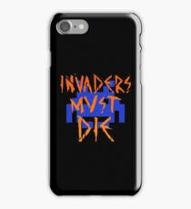 INVADERS MUST DIE III iPhone Case/Skin