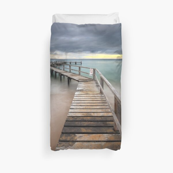 Shelley beach - Portsea Duvet Cover