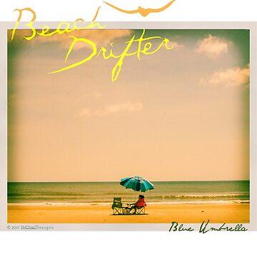 Beach Drifter Blue Umbrella by beachdriftercc