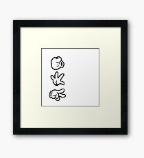 Mickey Mouse Hands Rock Paper Scissors Framed Print